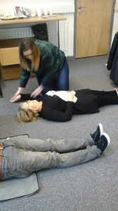 Client Choice Award Winner - Sarah Price Stephens pictured at out recent First Aid training session.