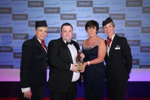 Outstanding Service to Business award 2015, presented to Peninsula Care Director, Jonny Cook