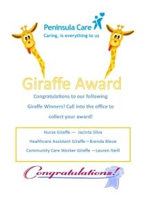 Giraffe Award - March